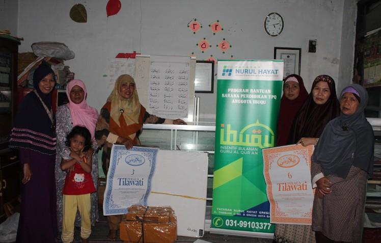 NH Gresik Berikan Bantuan Sarana Pendidikan TPQ Binaan